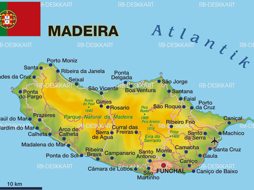 Карта на остров Мадейра